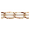 Fire polished 12x8mm Crystal Oblong Shape Strung Bead